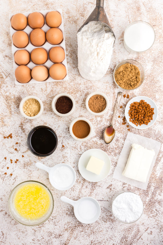 All the ingredients needed to make Gingerbread Oreo Truffles