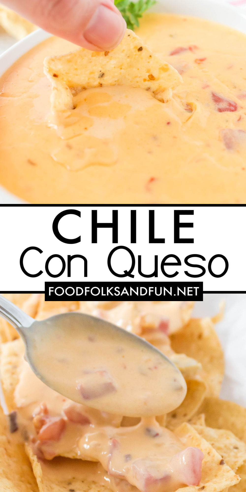 This is the only Chile con Queso recipe you'll need for parties, game day, snacks, and more! It's made from scratch and withoutprocessed cheese like Velveeta! via @foodfolksandfun