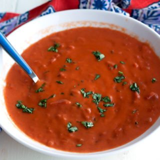 Classic, homemade tomato soup is an all-time favorite comfort food recipe. It's easy to make, and tastes amazing!