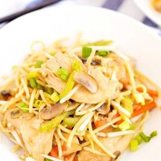The best Chicken Chow Mein recipe.