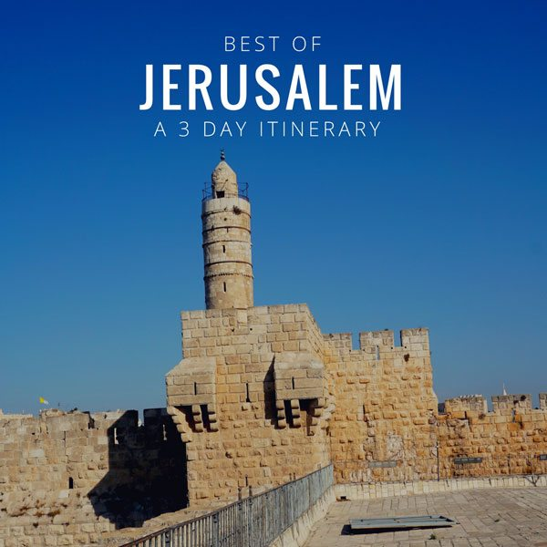 Jerusalem city walls with text overlay for social media.