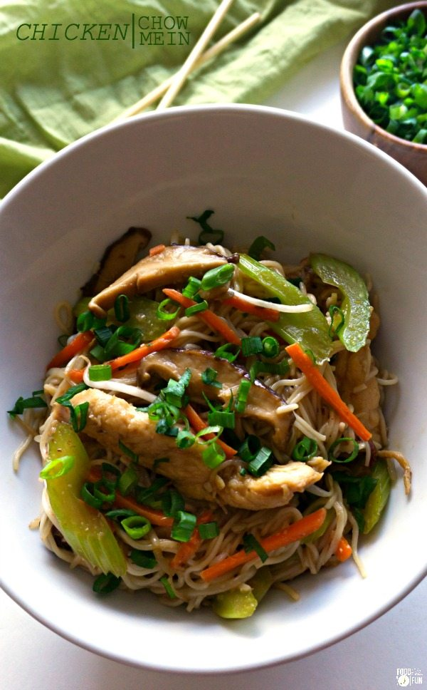 Chicken chow mein the real deal food folks and fun this chicken chow mein is an easy at home recipe thats better than any forumfinder Image collections