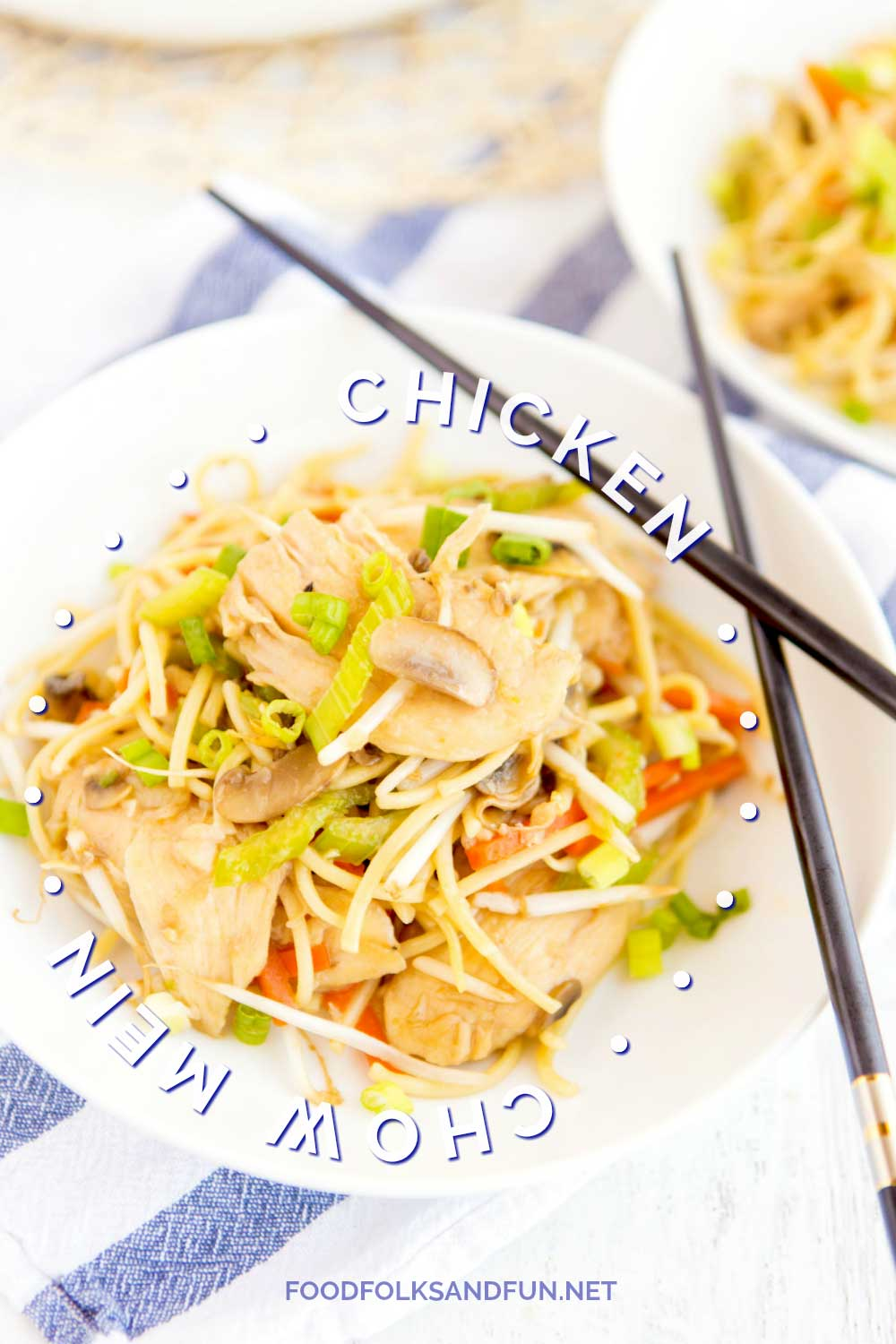 This Chicken Chow Mein is an easy, at-home recipe that's better than any Chinese takeout! It's simple and so crave-worthy!