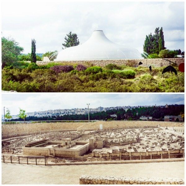 A picture collage of the Israel Museum