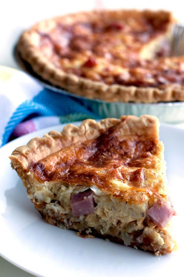 Easy Ham and Cheese Quiche Recipe