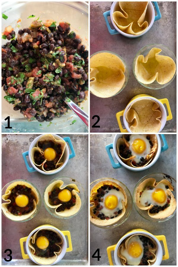 A picture collage of the recipe steps with text overlay for social media.
