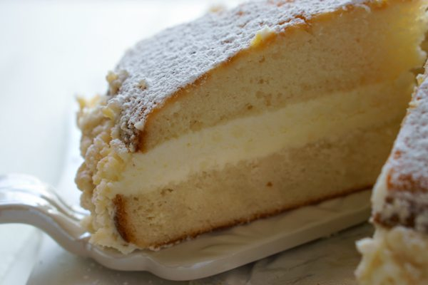 This Copycat Olive Garden Lemon Cream Cake is completely homemade, and is every bit as good as the original—and dare I say, even better!