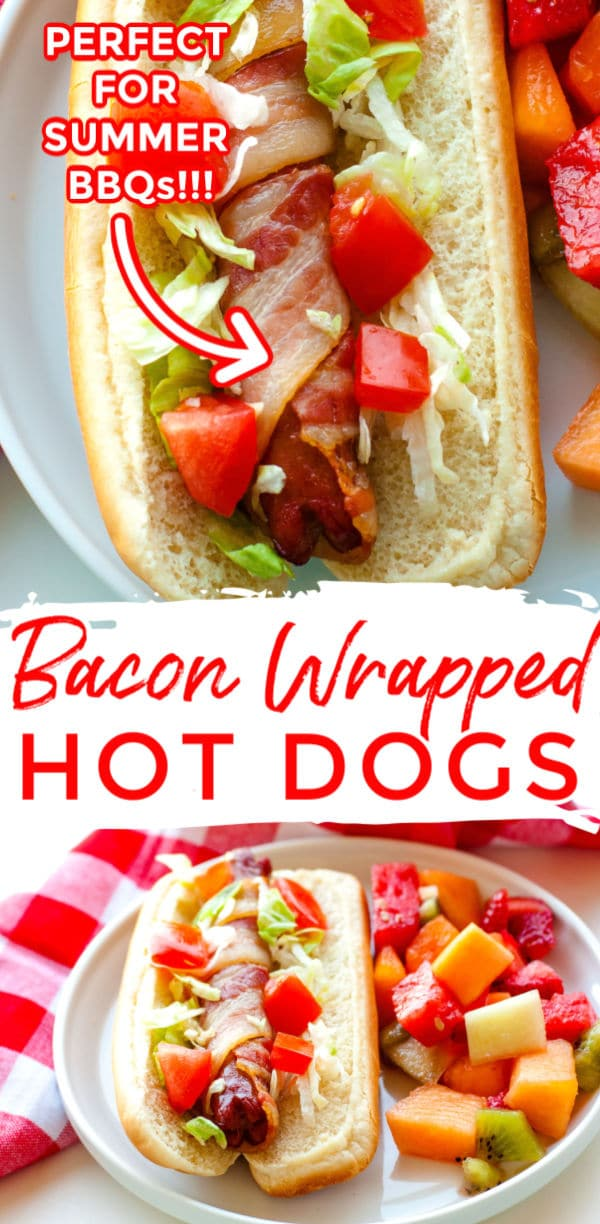 Take the humble hot dog to the next level with this Bacon Wrapped Hot Dogs recipe. Both baking and grilling instructions are included in this recipe! This recipe serves 8 and costs just 58¢ per serving! via @foodfolksandfun