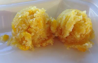 Process shot of making Mexica Sweet Corn Cake