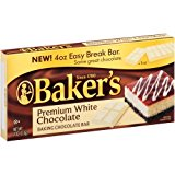 A carton of baker\'s white chocolate