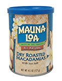 A container of dry roasted macadamias