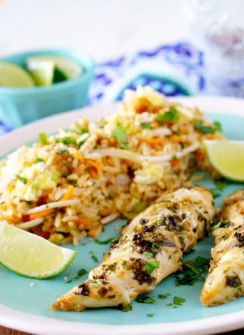 Cilantro Thai Chicken Recipe that can be made in the over or grill!