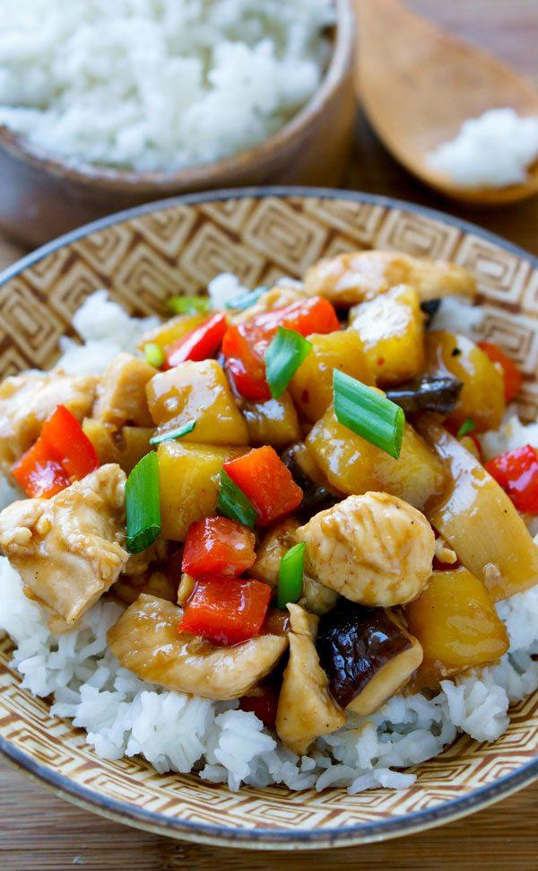 Easy Sheet Pan Chicken Teriyaki in a bowl