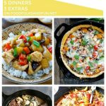 A collage of 5 dinner ideas with text overlay for Pinterest