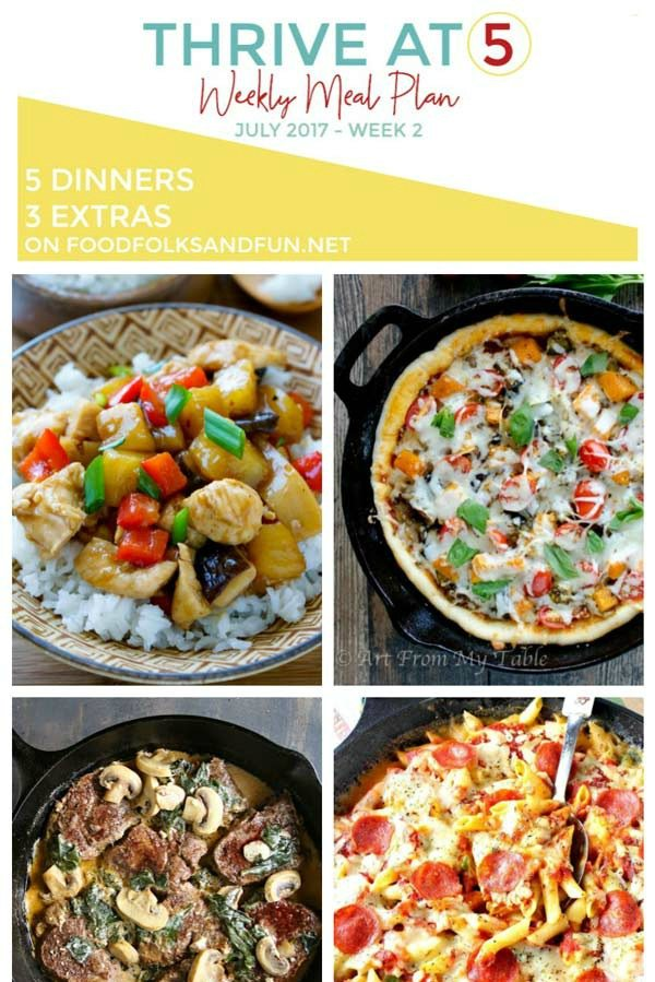 Thrive at Five Meal Plan – July,Week 2!