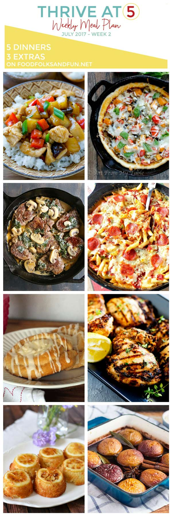 Dinner ideas in a collage with text overlay for Pinterest