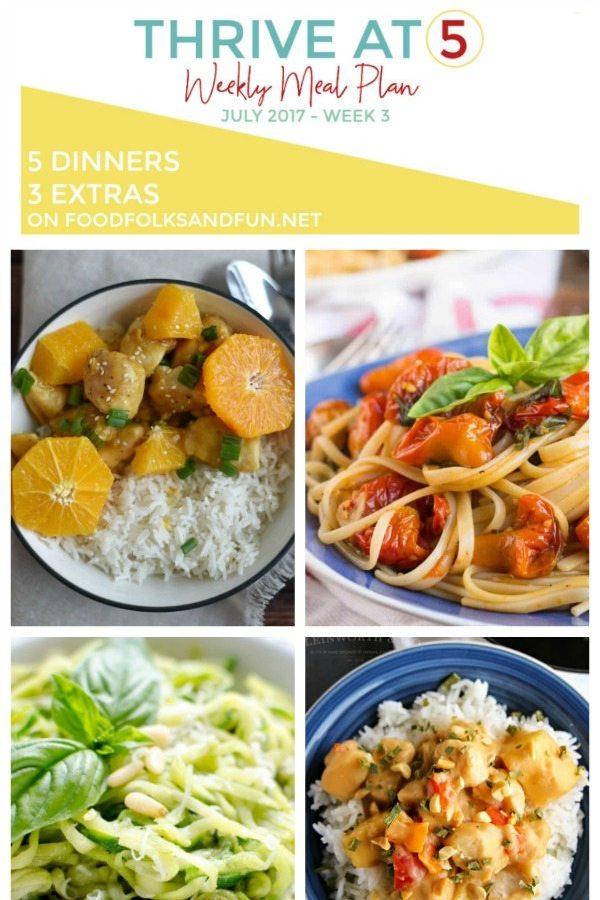 Thrive at Five Meal Plan – July,Week 3!