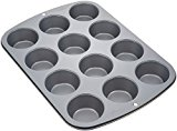 A metal muffin tin