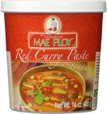 A container of red curry paste