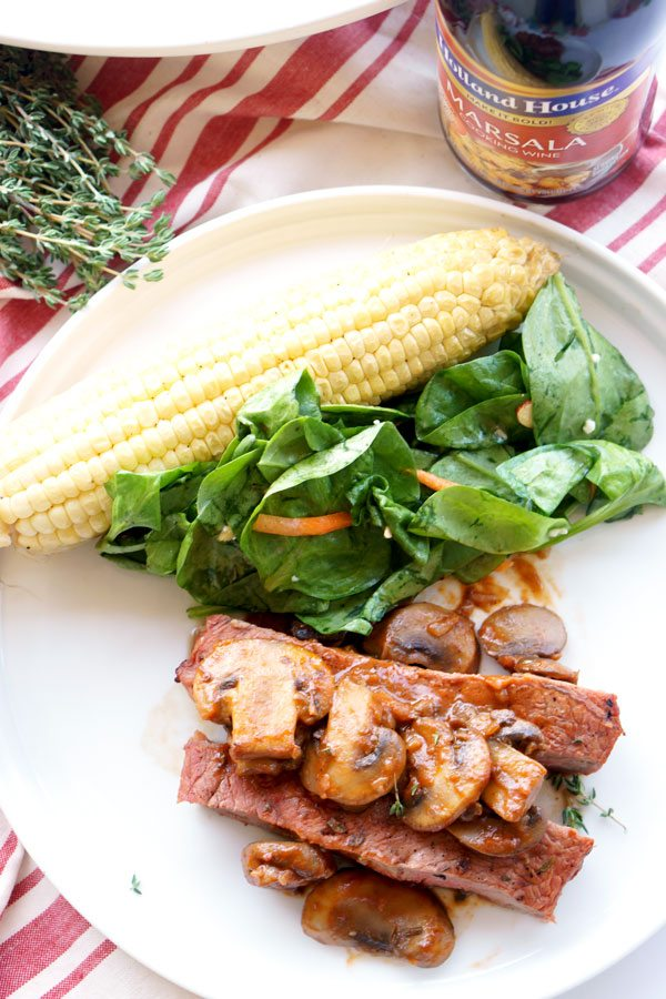 And easy Grilled Steak Marsala recipe