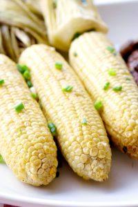 smoking corn on the cob