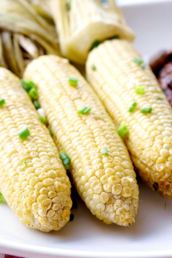 smoking corn on the cob