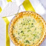 Zucchini Quiche full of fontina cheese and basil.