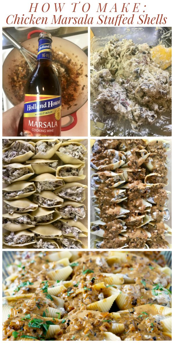 How to Make Chicken Marsala Stuffed Shells with Creamy Marsala Sauce