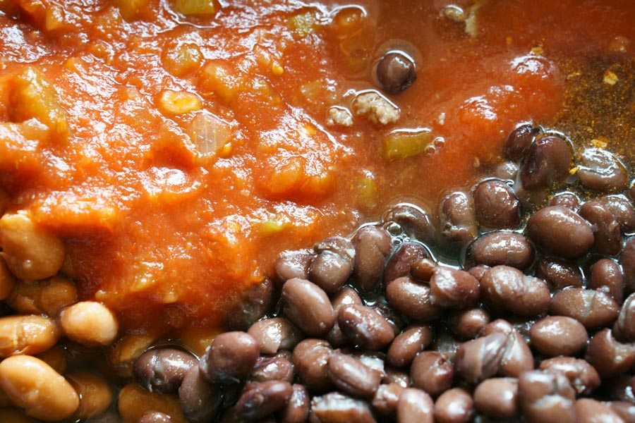 Making Slow Cooker Taco Soup for an easy weeknight dinner.