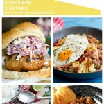 A collage of different dinners to make with text overlay for Pinterest