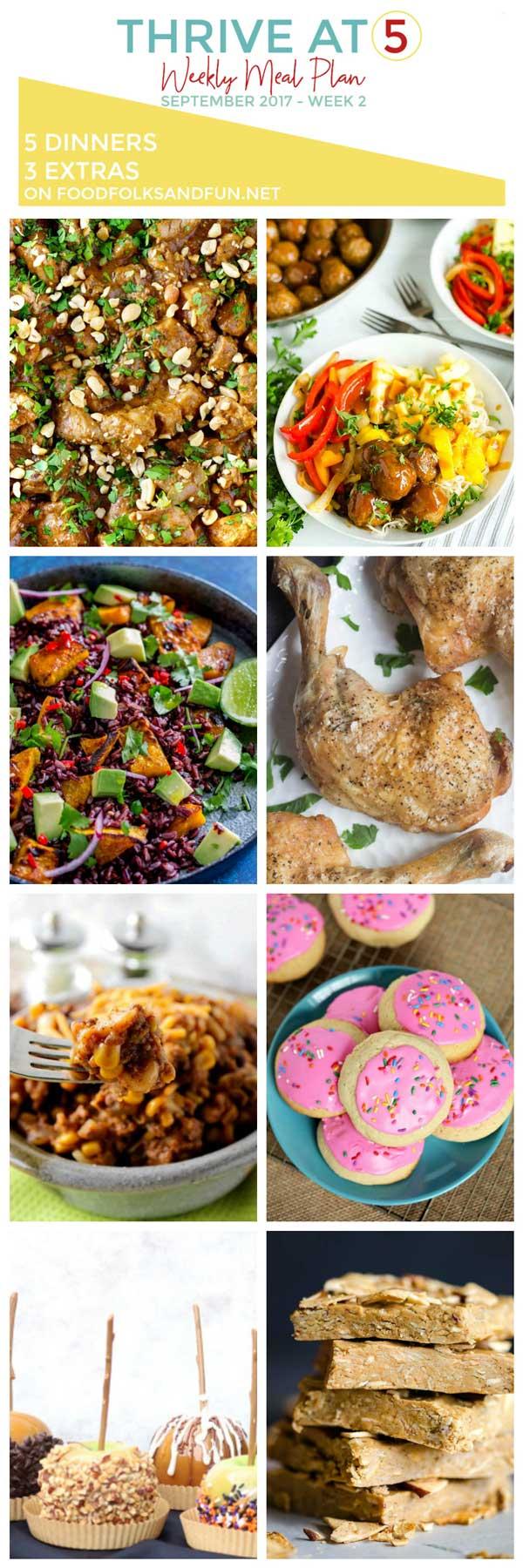 Weekly Meal Plan for September Week 2