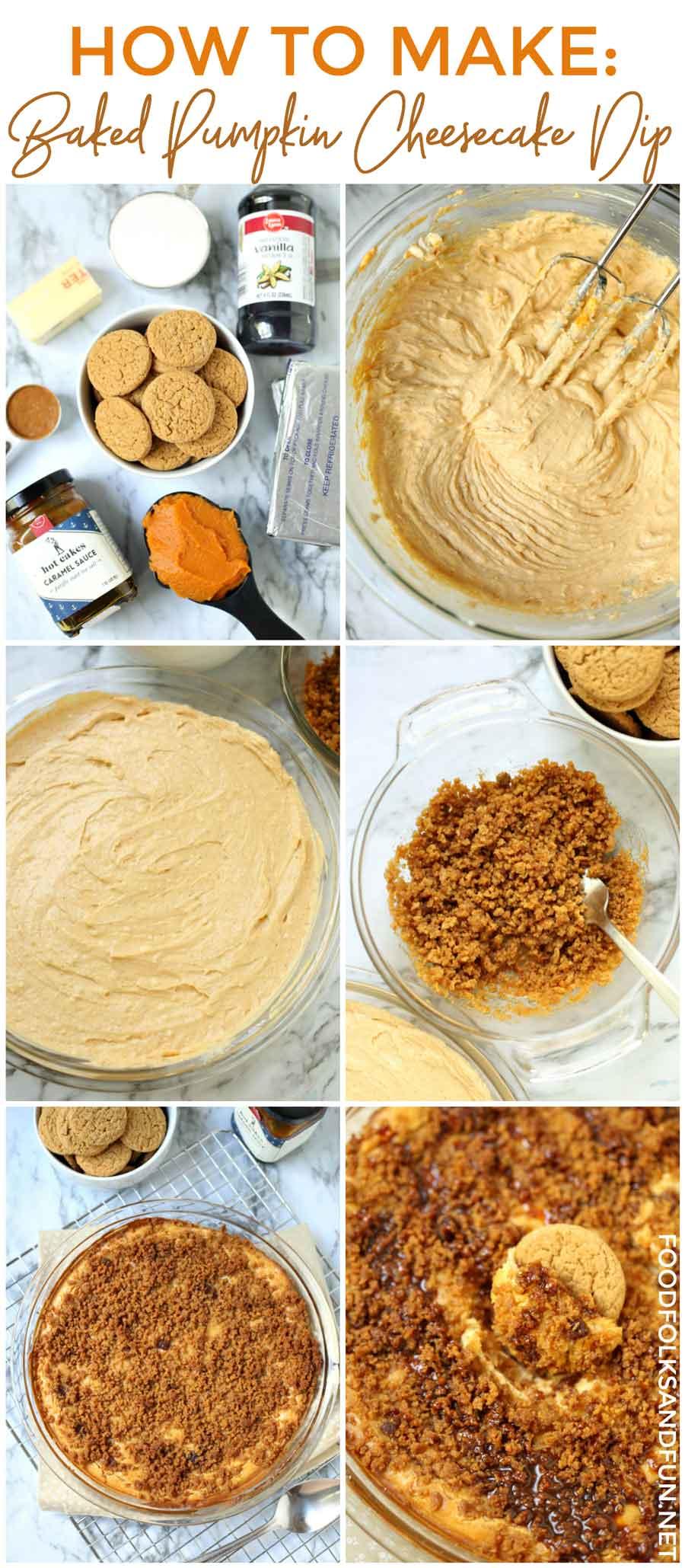Hot to make this super easy pumpkin cheesecake dip.