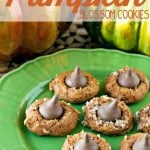 Four Ingredient Pumpkin blossom cookies with text overlay for pinterest