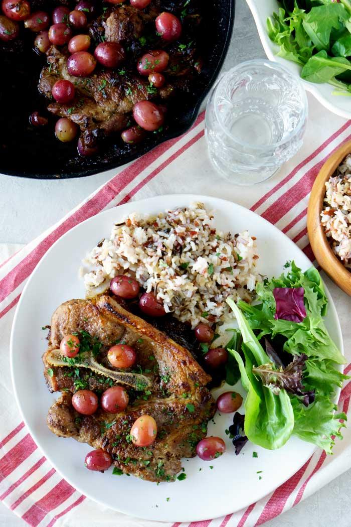Skillet Pork Chops easy recipe.