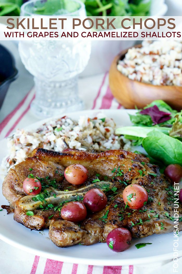 Skillet Pork Chops Meal for an inexpensive dinner party.