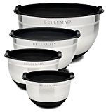 Small to large sizes of mixing bowls with lids