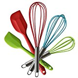 rubber spatulas and whisks