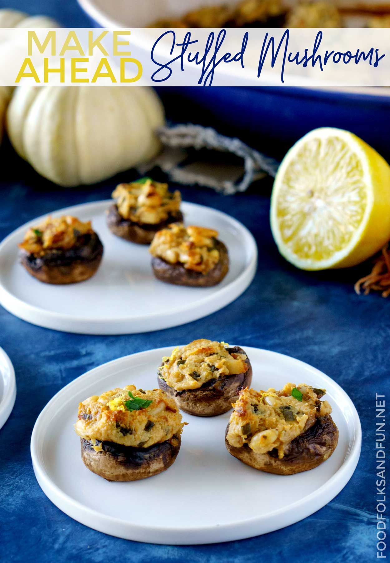 Stuffed mushrooms, cold snacks and soups