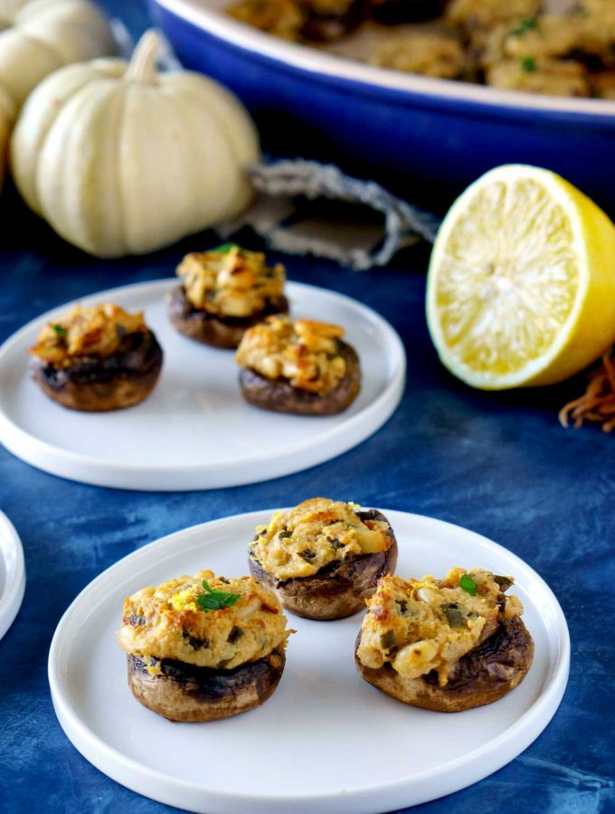 Make-Ahead Stuffed Mushrooms with Goat Cheese and Pine Nuts