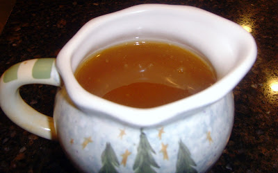 Homemade Buttermilk syrup in a saucer