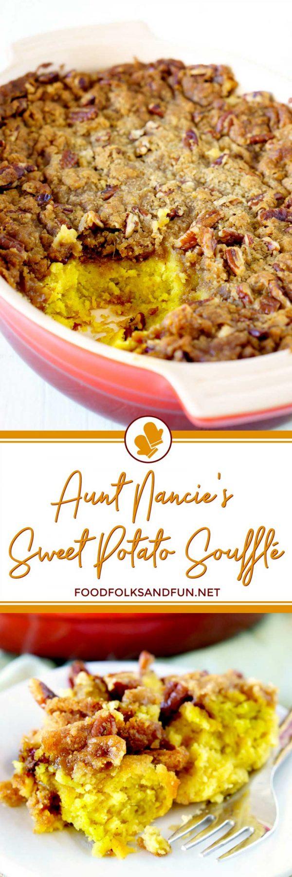 Sweet Potato Soufflé with Pecan Praline Topping