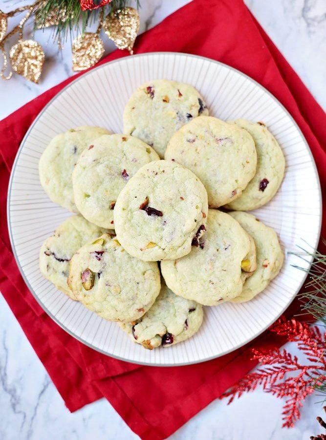 Easy Cranberry Pistachio Pudding Cookies + RECIPE VIDEO!