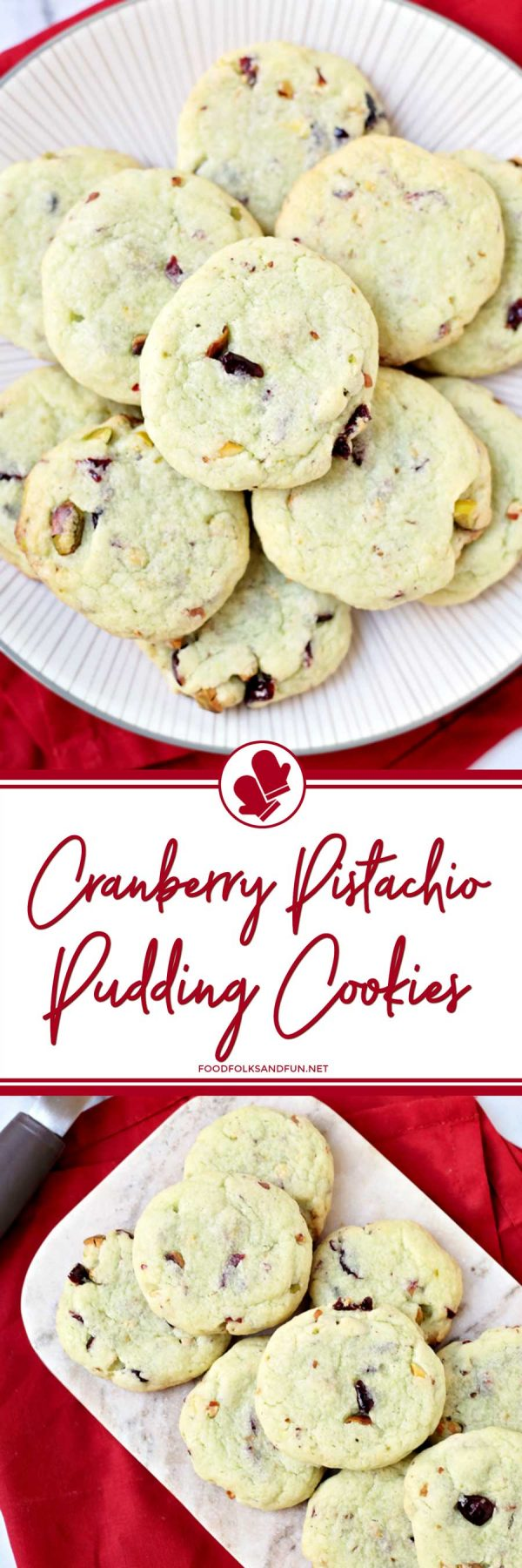 The Best Cranberry Pistachio Pudding Cookies