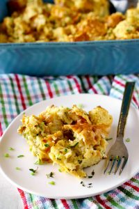 Best-ever Savory Bread Pudding recipe