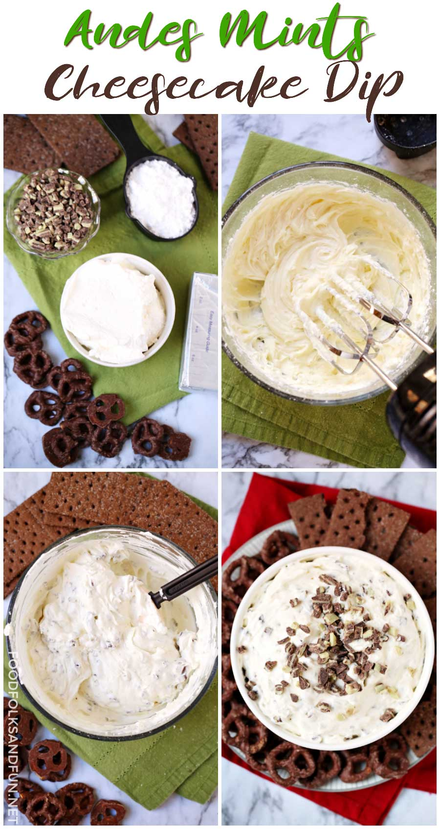 How to Make an easy holiday dessert: Andes Mint Cheesecake Dip