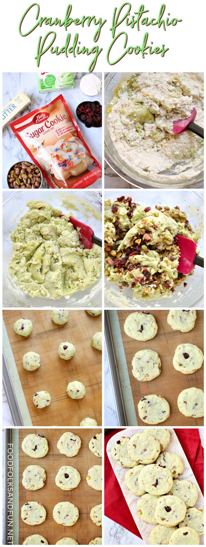 How to Make Easy Cranberry Pistachio Pudding Cookies