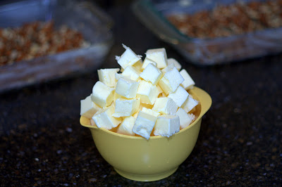 cubes of butter in a bowl
