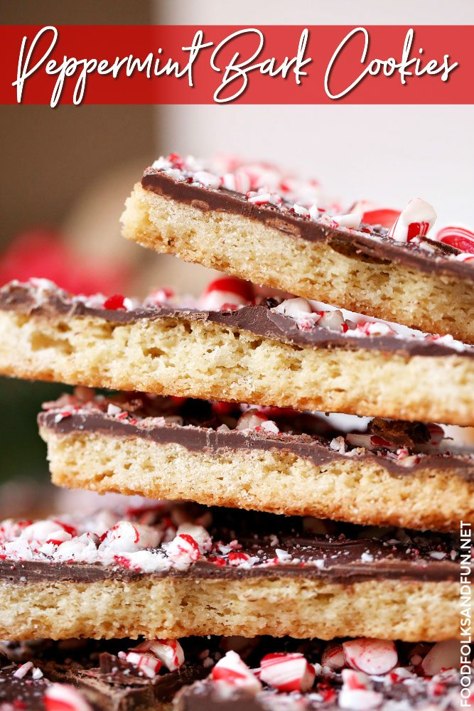 Best Shortbread Peppermint Bark Cookies recipe