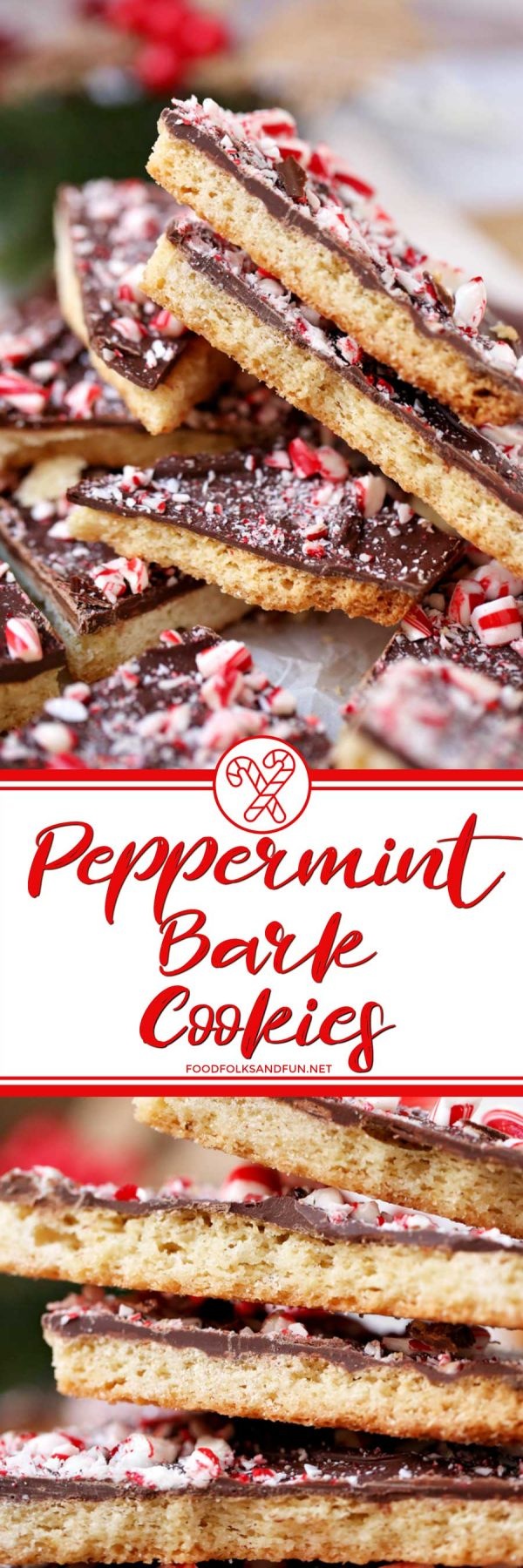Shortbread Peppermint Bark Cookies