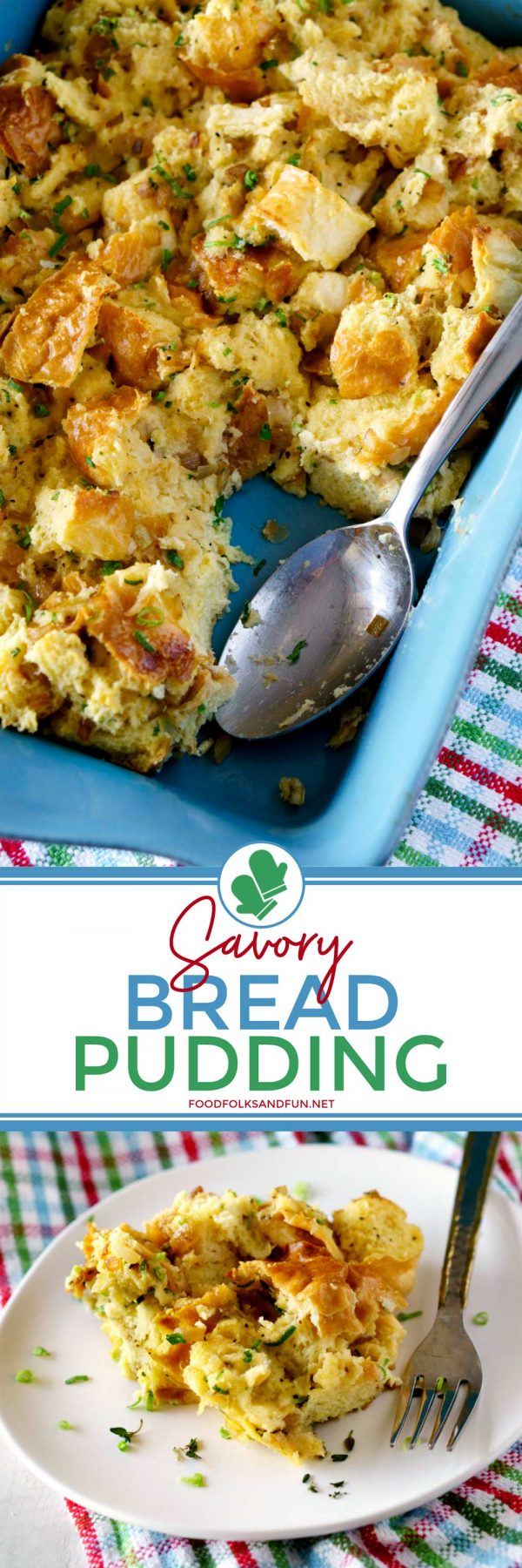Savory Bread Pudding recipe